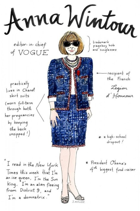 Anna Wintour Illustrtaion