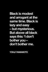 black yohji yamamoto BLOG