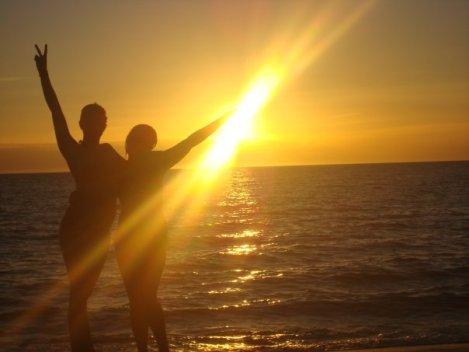 Me & Best Friend Chud at Sunset in WA