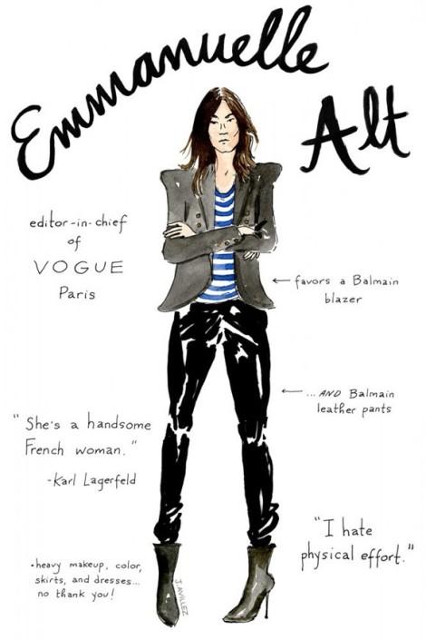 Emmanuelle Alt Illustration