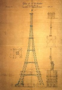 First Drawing of the Eiffel Tower