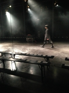 Rehearsals at Julius A/W2014 Paris Men's Fashion Week