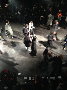 The after show crowds at Julius A/W2014 Paris