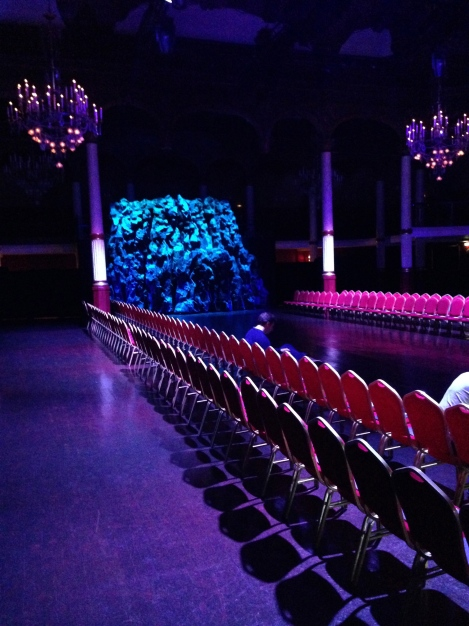 Almost ready for the show to start for Songzio A/W 2014 Paris Men's Fashion Week