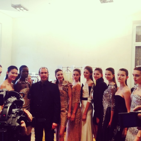Tony Ward and his gorgeous gowns and gorgeous ladies backstage
