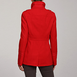 Tommy Hilfiger Wool Coat in Cardinal Red