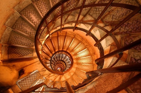 Stairs inside Arc de Triomphe