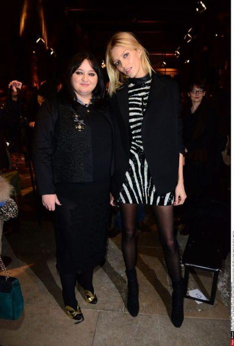Gosia Baczynska and supermodel Anja Rubik after Gosia Baczynska FW14 show