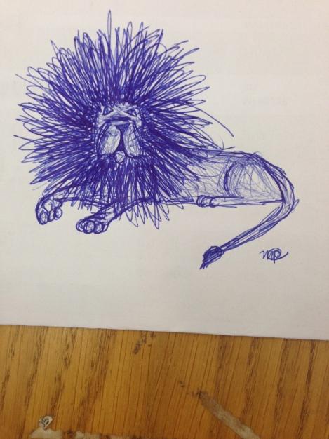 Sketchy Scratchy Lion
