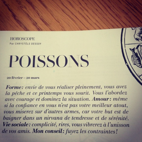 L'Officiel Magazine telling me my Horoscope