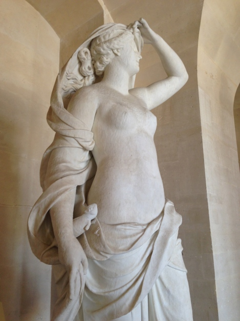 Sculpture of the Goddess of Air Chateau Versailles