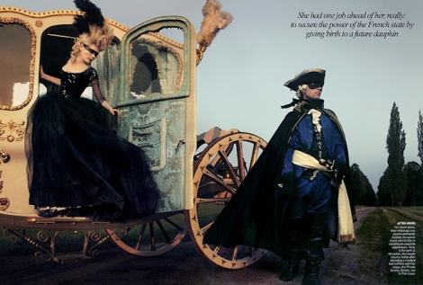 Kirsten Dunst and Jason Schwartzman in Sofia Coppola's Marie Antoinette  Photographed by Annie Leibovitz