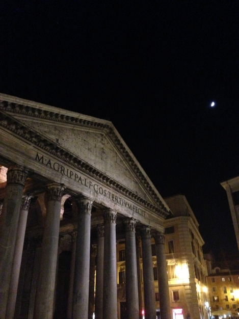 The Pantheon in the moonlight